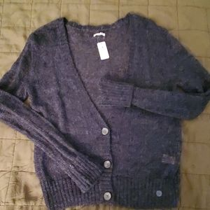 Aerie grey button down sweater